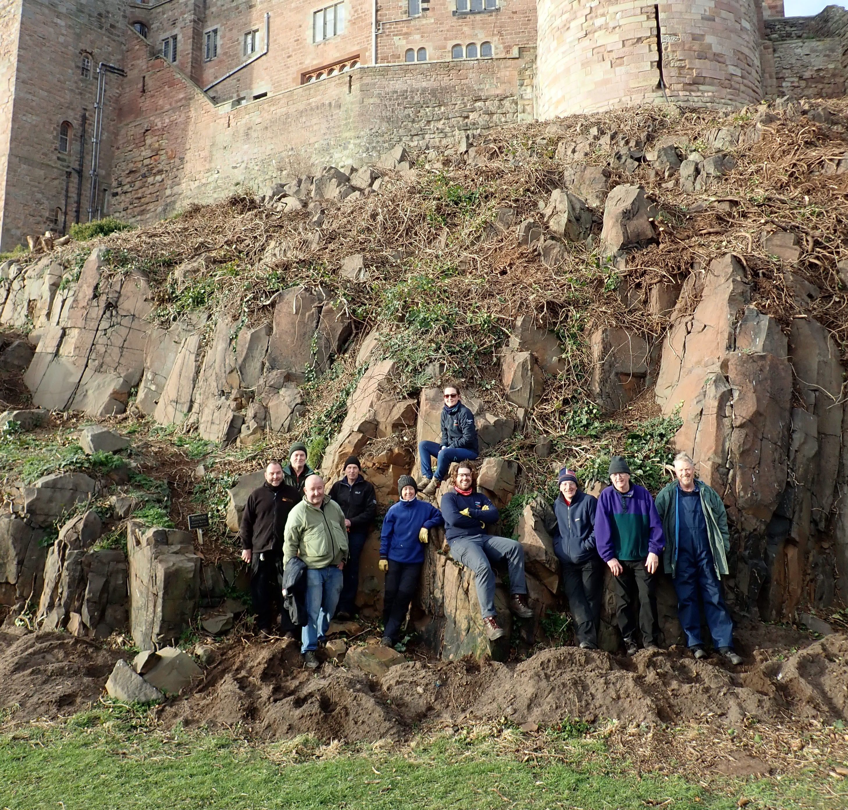 Volunteers increase Bamburgh Castle's Biodiversity